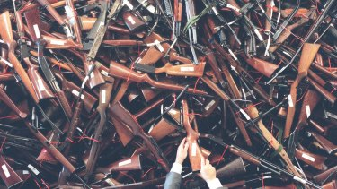 About 700,000 guns were handed in to Australia's buyback nearly 20 years ago.