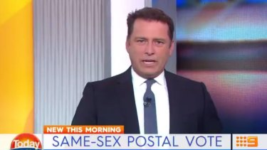 Karl Stefanovic gets fired up on the Today show.