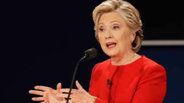Hillary Clinton, the Democratic nominee.