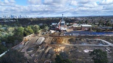 The former Alphington paper mill site under development.