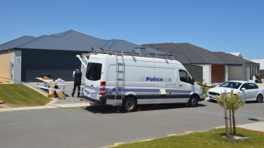 Police at the house in Flight Vista, Yanchep.