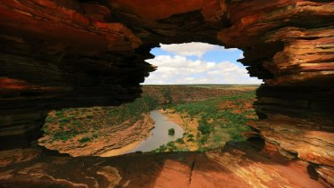 The view from Nature's Window near Kalbarri.