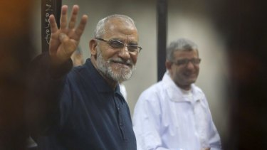 Defendant: Mohamed Badie was one of four Muslim Brotherhood leaders referred to a military court.
