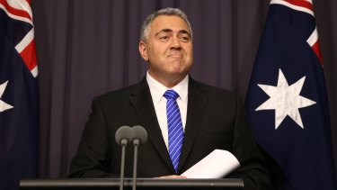 Treasurer Joe Hockey gives small business owners something to grin about.