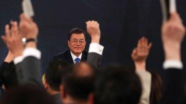 South Korean President Moon Jae-in on Wednesday.