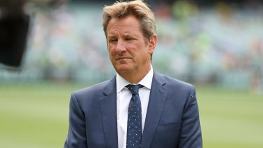 Mystery ailment: Mark Nicholas was taken ill during the Boxing Day Test.