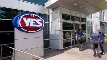 Debates, outsourcing and delays: The revamped logo at AFL House.