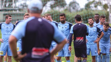 Prepared: Graham Arnold's Sydney FC squad is unaffected by Olyroos selection.