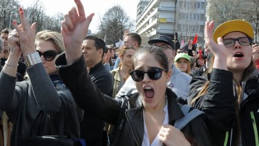 Thousands joined a rally in Warsaw on Sunday to protest against a possible tightening of the country's strict abortion laws.