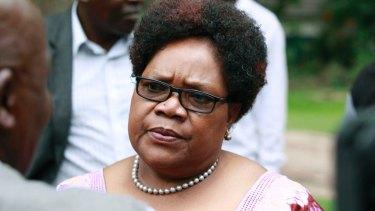 Former Zimbabwean vice president Joice Mujuru on Thursday.