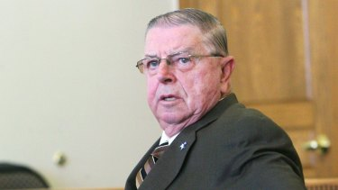 Henry Rayhons in court in Iowa in March.