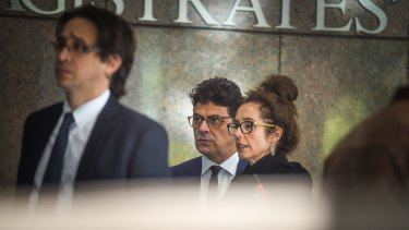Actor Vince Colosimo arriving at court on Friday.