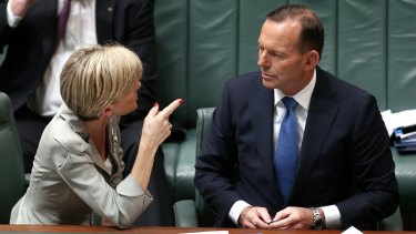Foreign Minister Julie Bishop has assured Prime Minister Tony Abbott that she has not been campaigning for his job.