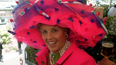 Lillian Frank at the Melbourne Cup in 1992.