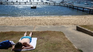 Relaxing at Redleaf beach during Sydney's driest September on record.