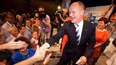 High flyer: Campbell Newman led to LNP to a record victory in 2012.