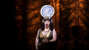 Elena Gabouri in a dress rehearsal for Opera Australia's new digital production of Aida.