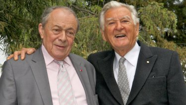 The men who pushed the Madrid Protocol in 1989: former French PM Michel Rocard and Bob Hawke.