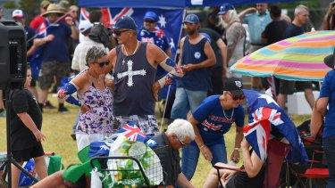 Patriots at an Australia Day barbecue in St Kilda.