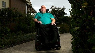 Anthony Virgona at home in Keilor East last week.