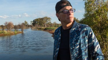 Jean-Claude Van Damme at the White Leeds Arid Wetlands near Broken Hill.
