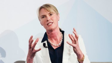 """ANZ group executive for digital banking, Maile Carnegie, says local banks should """"get moving"""" in the competition with tech firms."""