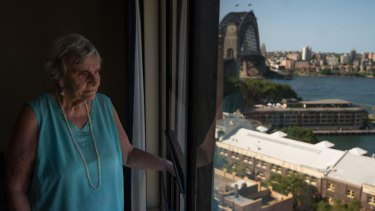 Myra Demetriou, 89, has been a tenant in the Sirius building since 2008.