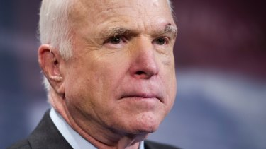 John McCain returned to Capitol Hill after being diagnosed with an aggressive type of brain cancer.