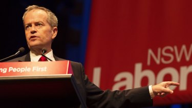 Bill Shorten announced his party's negative gearing policy at the NSW Labor conference at Sydney's Town Hall at the weekend.