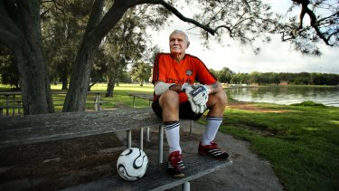 Hans Kumpel is a goalie for the Balmain District Football Club and believes there is an acute shortage of playing fields in the inner west