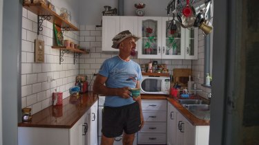 Sam Sarkis, 63, at his home, which is being acquired by the NSW government for the expansion of the hospital.