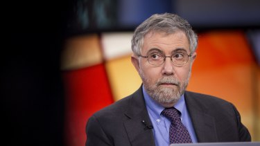 Paul Krugman, pictured, shares the dominant outsider view of the Australian economy but NAB economist Peter Jolly thinks he's wrong.