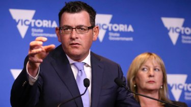 As opposition leader in 2014, Daniel Andrews was outraged at an entitlement scandal surrounding Geoff Shaw.