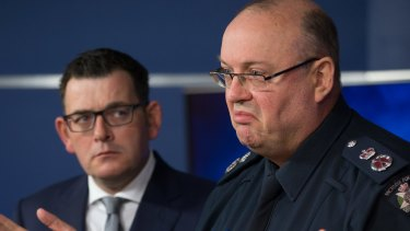 Victorian Premier Daniel Andrews and Chief Commissioner Graham Ashton AM respond to the Malaysian Airlines flight MH128 incident, in June.