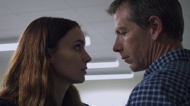Mendelsohn and Rooney Mara in Una, in which he plays a paedophile.