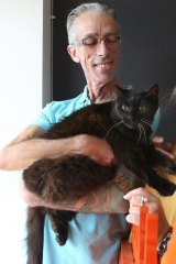 Hocus was cared for at the vet while Mark was in hospital.