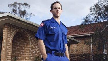 Paramedic Gareth Copeland at his home in Gosford.