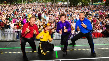 The Wiggles out on the road.