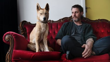 Hayden Fowler will lock himself in a cage with the dingo Juno for an art installation as part of Sydney Contemporary.