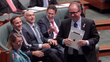 David Feeney during question time in 2014 - after he bought the undeclared home.