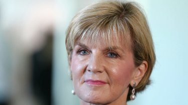 """Foreign Minister Julie Bishop: """"As long as nuclear weapons exist, many countries, including Australia, will continue to rely on nuclear deterrence to help prevent nuclear attack or coercion."""""""