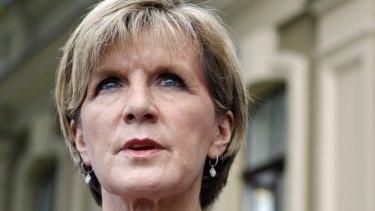 Foreign Minister Julie Bishop