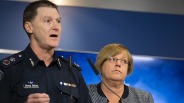Acting Chief Commissioner Shane Patton and police minister Lisa Neville speak about youth crime.