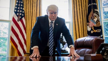 US President Donald Trump in the Oval Office. A significant group of voters who supported Barack Obama in 2012 ended up moving across to the Republican candidate in 2016.