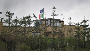 Properties bordering Donald Trump's Scottish golf course fly the Mexican flag during his visit in June.