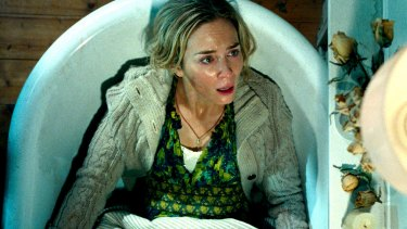 Emily Blunt must go about her business in silence in A Quiet Place.