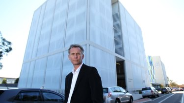 Architect Julian Ashton at The Westmead Institute for Medical Research.