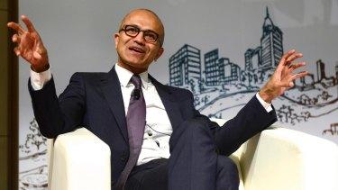 Microsoft CEO Satya Nadella earlier this year.