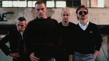 The characters of <I>Trainspotting</I>: Spud, Renton, Sick Boy and Begbie.