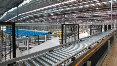 On track: Kathmandu's distribution centre features automated picking and packing.